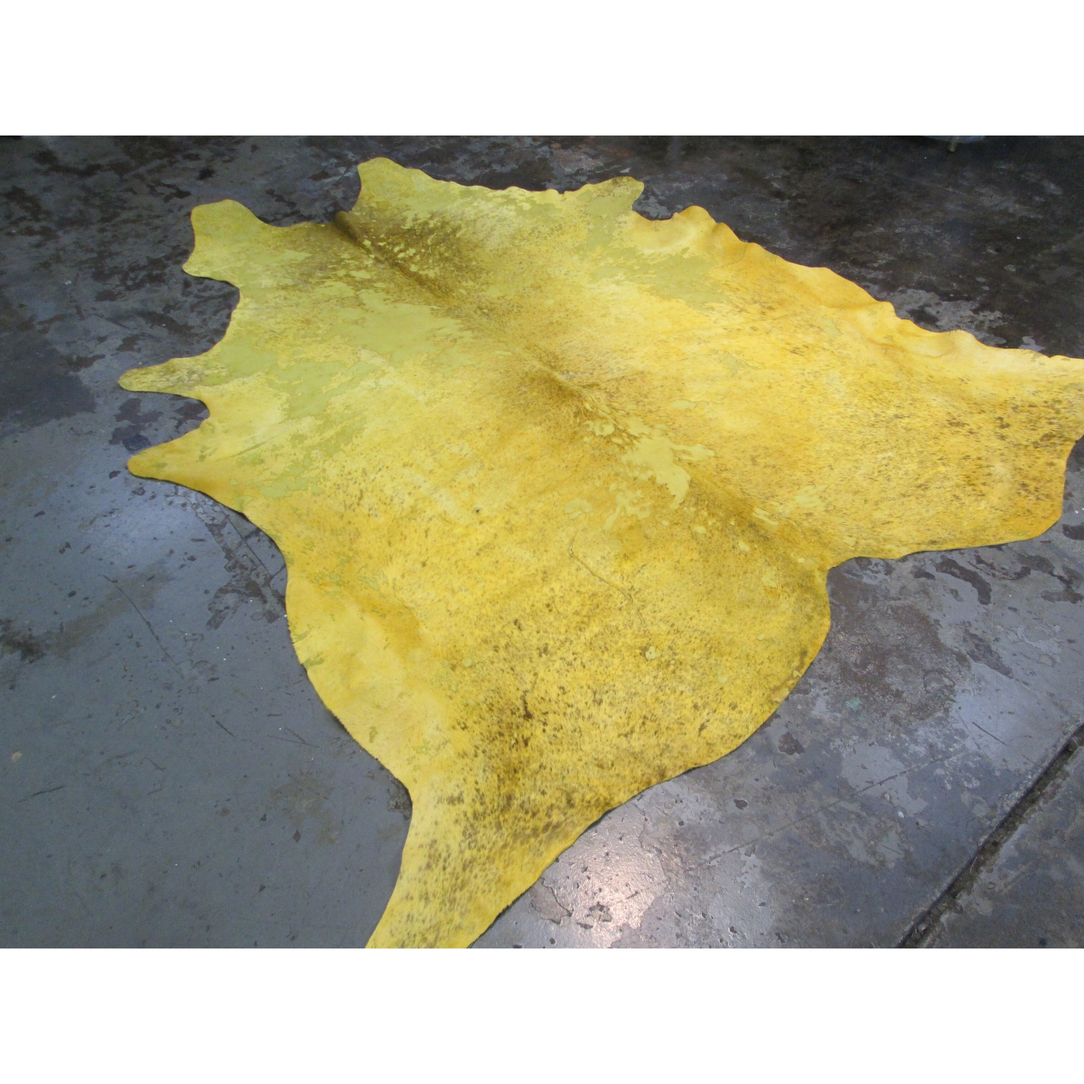 Distressed Yellow Large Real Natural Cowhide Rug Area Rugs Overstock 21707149