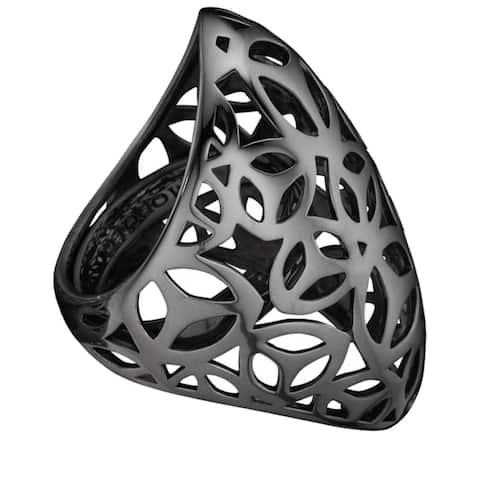 Di Modolo Sahara Ring in Plated Black Rhodium Estimated Retail Price 295.00