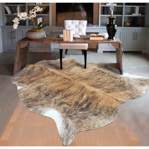 Shop LIGHT BRINDLE Real Natural Cowhide Rug Area Rugs