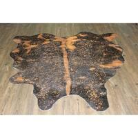 ORANGE METALLIC Real Natural Cowhide Rug Area Rugs