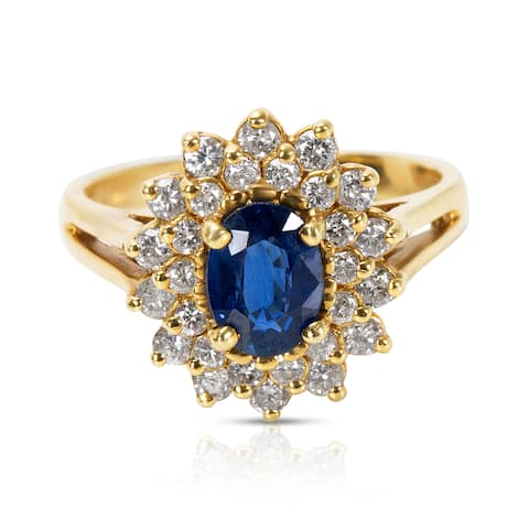 Double Halo Fashion Ring in 18KT Yellow Gold with Diamonds (0.56 CTW)