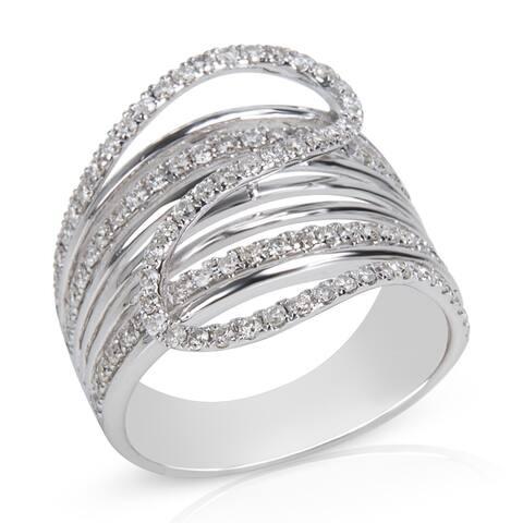 Diamond Multi-Strand Ring in 14KT White Gold (0.83 CTW)