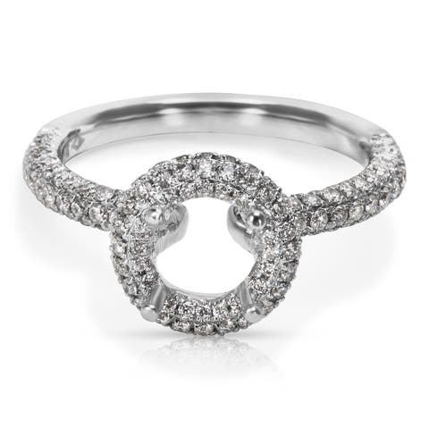 Engagement Ring in 14KT White Gold (0.72 CTW)