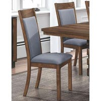 eea10e2a3deb Mid Century Rustic Design Grey Upholstered Dining Chairs (Set of 2). Sale