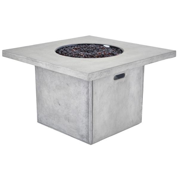 Veranda Clic Canyon Terrafab Grey Metal 38 Inch Square Firepit