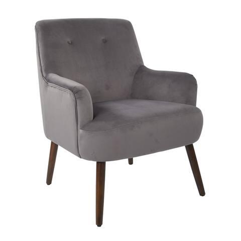 Carson Carrington Balestrand Mid-century Tufted Velvet Arm Chair