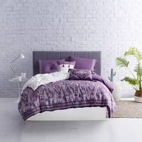 Boheme Cotton Comforter Set in Purple