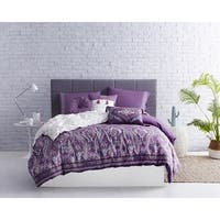 AWE Boheme Printed Cotton Duvet Set in Purple