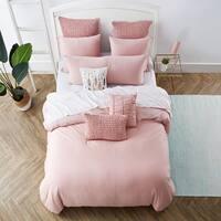 Jersey Knit Cotton Duvet Set in Pink
