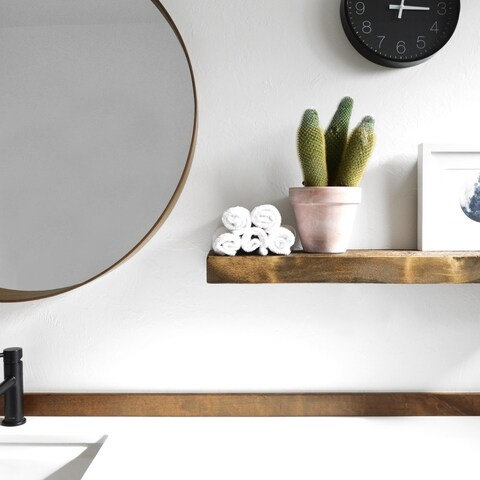 Solid Timber Floating Shelf