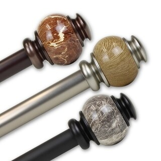 InStyleDesign Onyx 1 inch Diameter Adjustable Curtain Rod (More options available)