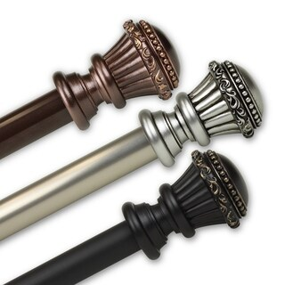 InStyleDesign Trinity 1 inch Diameter Adjustable Curtain Rod (More options available)