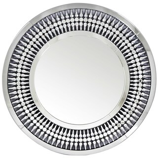 Best Quality Furniture Round Silver Wall Mirror with Crystals