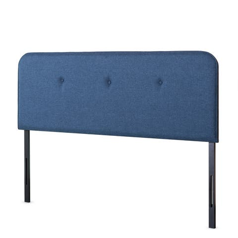 Priage by Zinus Button Detailed Curved Headboard, Navy