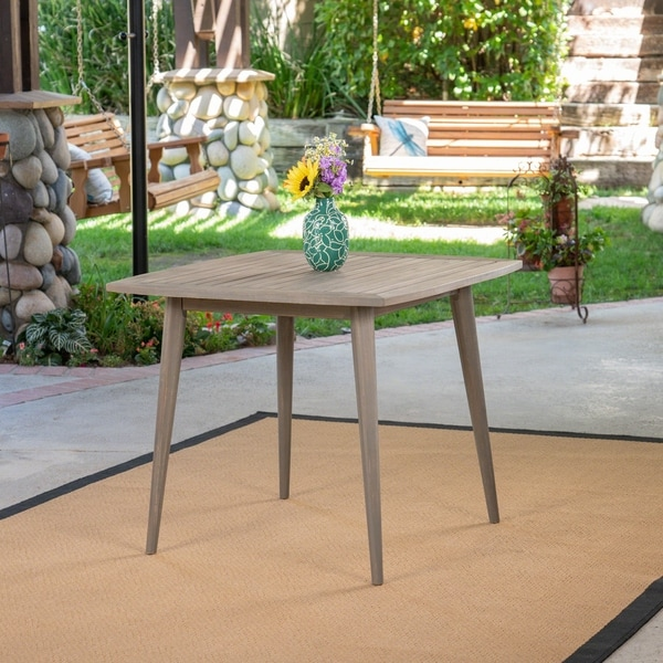 Stamford Outdoor Dining Table With Straight Legs By Christopher Knight Home