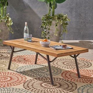 Link to Canoga Outdoor Industrial Coffee Table by Christopher Knight Home Similar Items in Outdoor Coffee & Side Tables