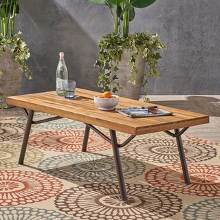 Canoga Outdoor Industrial Coffee Table by Christopher Knight Home