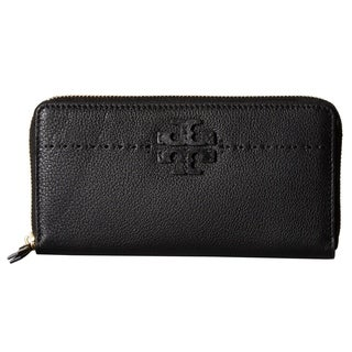 Tory Burch McGraw Zip Continental Black Wallet