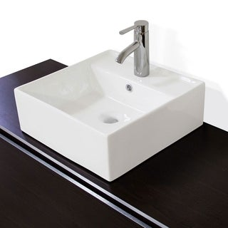 Alia Premium Ceramic Rectangular Vessel Bathroom Sink