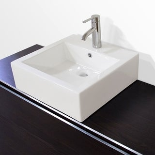 Eve Premium Ceramic Rectangular Vessel Bathroom Sink