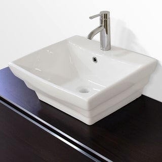 Olympia Premium Ceramic Rectangular Vessel Bathroom Sink