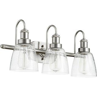 Quorum International Clear Seeded Glass 3-light Vanity or Sconce Family Fixture