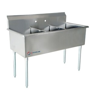 EQ 1 Compartment Commercial Kitchen Sink Stainless Steel