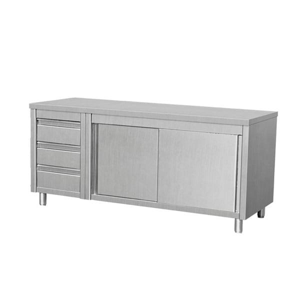 Kitchen Table Door: Shop EQ Kitchen Line THASR167L3 Prep Table Sliding Door