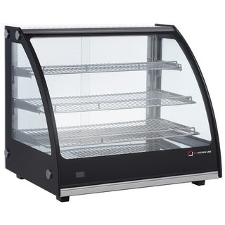 EQ Kitchen Line Commercial Countertop Hot Display Case Tempered Glass & Temperature Display