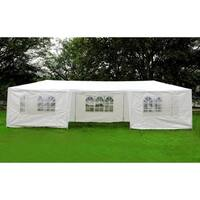 Mcombo 10'x30' White Outdoor Gazebo Canopy Wedding Party Tent w/ Removable Walls