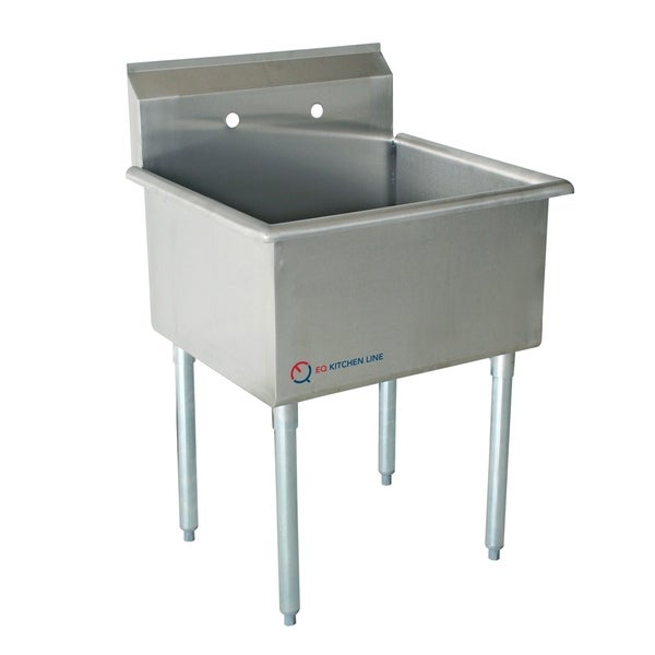 Shop EQ 1 Compartment Commercial Kitchen Sink Stainless Steel - Free ...