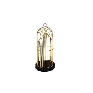 Well-Designed Metal Decorative Birdcage, Gold