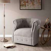 Madison Park Admiral Beige Swivel Chair