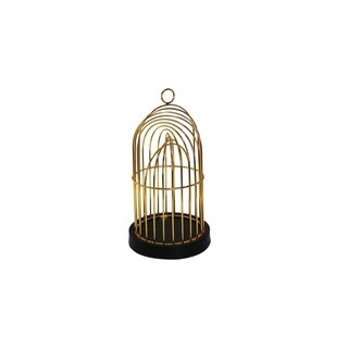 Fine-Looking Metal Decorative Birdcage, Gold