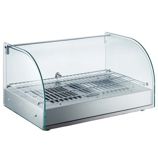 """EQ Kitchen Line RTR-25L Commercial Heating Countertop Display Net glass, 14.25"""" Height, 18"""" Width, 24.6"""" Length, Stainless Steel"""
