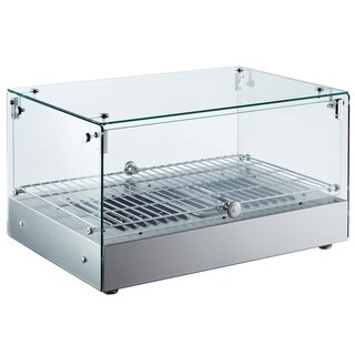 "EQ Kitchen Line RTR-35L Heating Countertop squared Display Net, glass, 14.25"" Height, 17.4"" Width, 24.6"" Length, Stainless Steel"