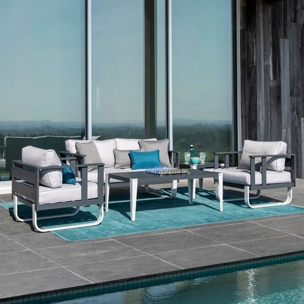 Corvus Adeline 5-piece Aluminum Outdoor Sofa Set with Cushions