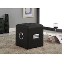 Sound Lounge Ottoman with Bluetooth Speaker, Black