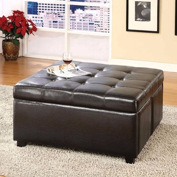 Shop Restful Contemporary Storage Ottoman With 4 Drawers