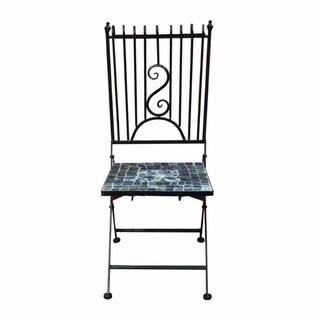 Chic Mosaic/Metal Garden Chair, Brown
