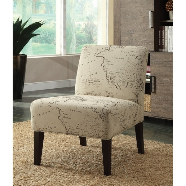 Shop Wooden Amp Fabric Accent Chair Multicolor On Sale