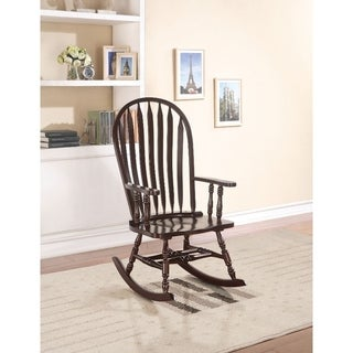 Wooden Rocking Chair, Espresso Brown