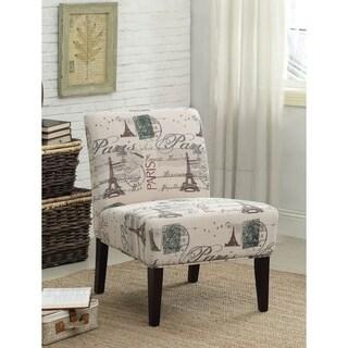 Shop Goodale Oversized Paris Themed Linen Upholstered