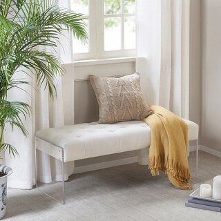 Madison Park Flaxton Cream Accent Bench