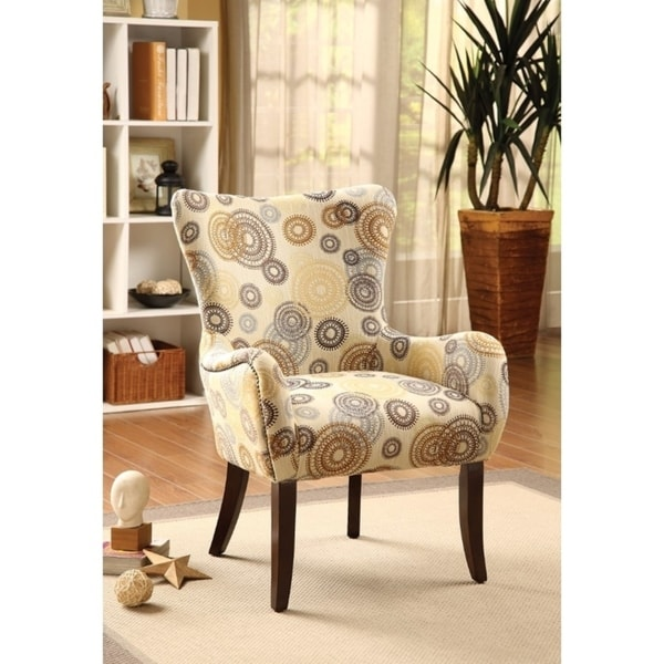 Shop Printed Accent Chair Fabric Espresso Free Shipping Today