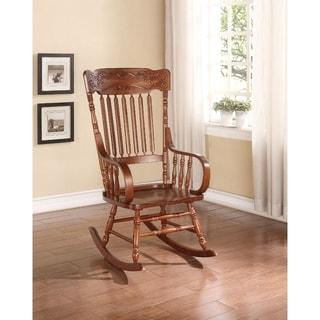 Wooden Rocking Chair, Tobacco Brown