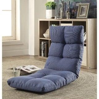 Enthusiastic Metal & Fabric Game Chair, Dark Blue