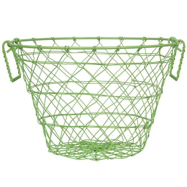 Iron Wire Basket, Green