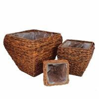 Voguish Sea Grass Basket, Brown, Set Of 3
