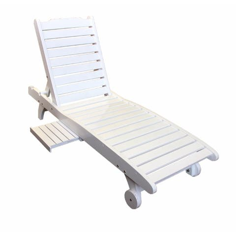 Relaxing Wooden Chair,White